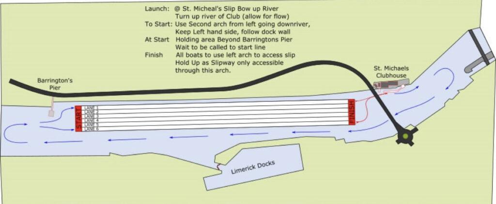 SMRC Masters Regatta 2021 Regatta Course & river traffic plan